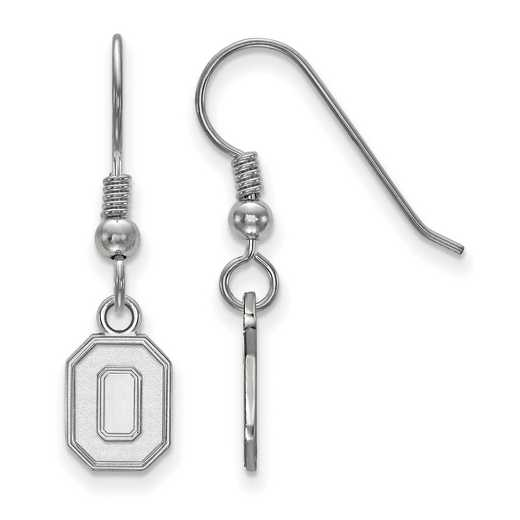 SS049OSU: SS LogoArt Ohio State Univ XS Dangle Earrings