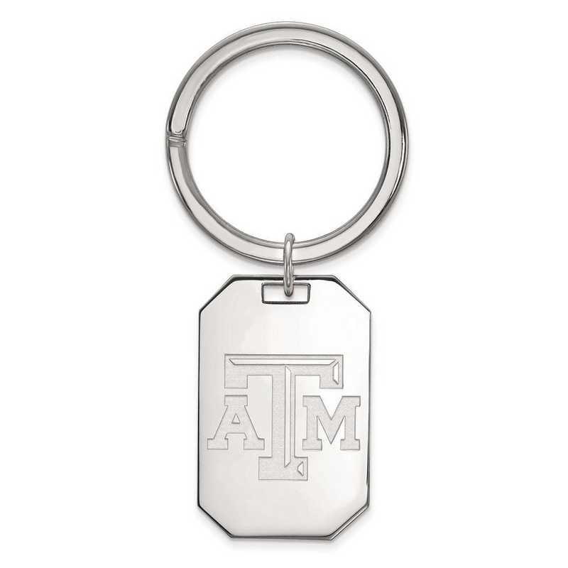 SS020TAM: Sterling Silver LogoArt Texas A&M University Key Chain