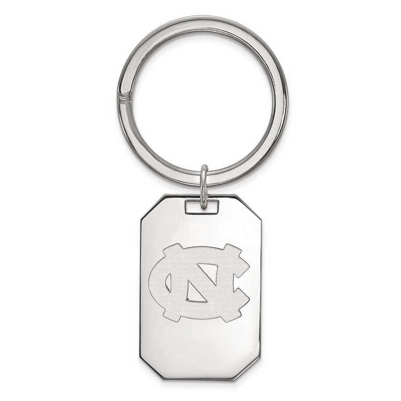 SS023UNC: Sterling Silver LogoArt Univ of North Carolina Key Chain