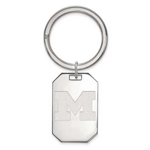 SS025UM: Sterling Silver LogoArt Michigan (Univ Of) Key Chain