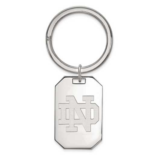 SS025UND: Sterling Silver LogoArt University of Notre Dame Key Chain