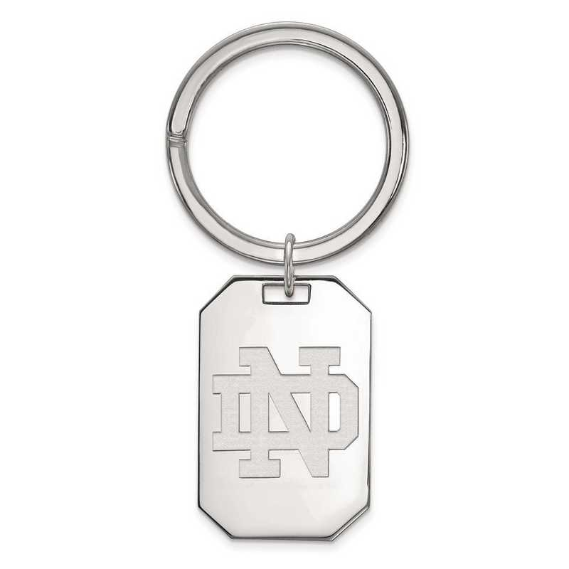 SS025UND: Sterling Silver LogoArt University of Notre Dame Key Chain