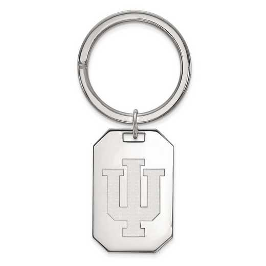 SS026IU: Sterling Silver LogoArt Indiana University Key Chain