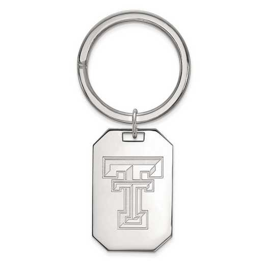 SS026TXT: Sterling Silver LogoArt Texas Tech University Key Chain