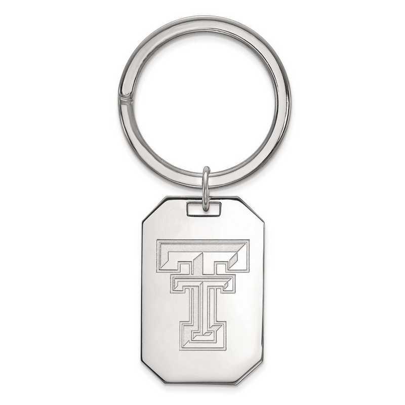 SS026TXT: Sterling Silver LogoArt Texas Tech University Key Chain
