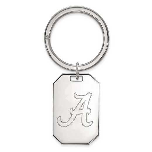 SS026UAL: Sterling Silver LogoArt University of Alabama Key Chain