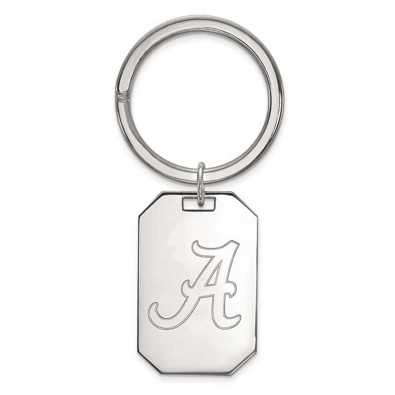 SS026UAL: Sterling Silver LogoArt University of Alabama Key Chain
