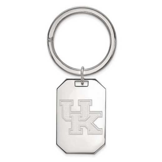 SS026UK: Sterling Silver LogoArt University of Kentucky Key Chain