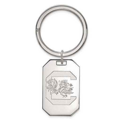 SS026USO: Sterling Silver LogoArt Univ of South Carolina Key Chain