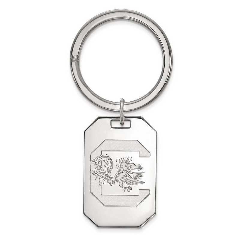 SS026USO: Sterling Silver LogoArt Univ of South Carolina Key Chain