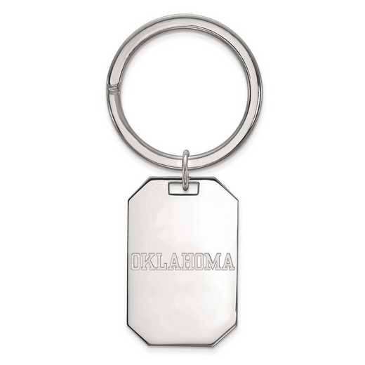 SS047UOK: Sterling Silver LogoArt University of Oklahoma Key Chain
