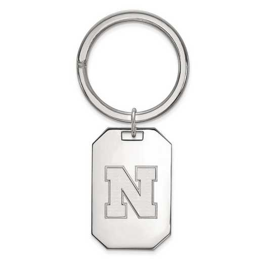 SS053UNE: Sterling Silver LogoArt Univeristy of Nebraska Key Chain