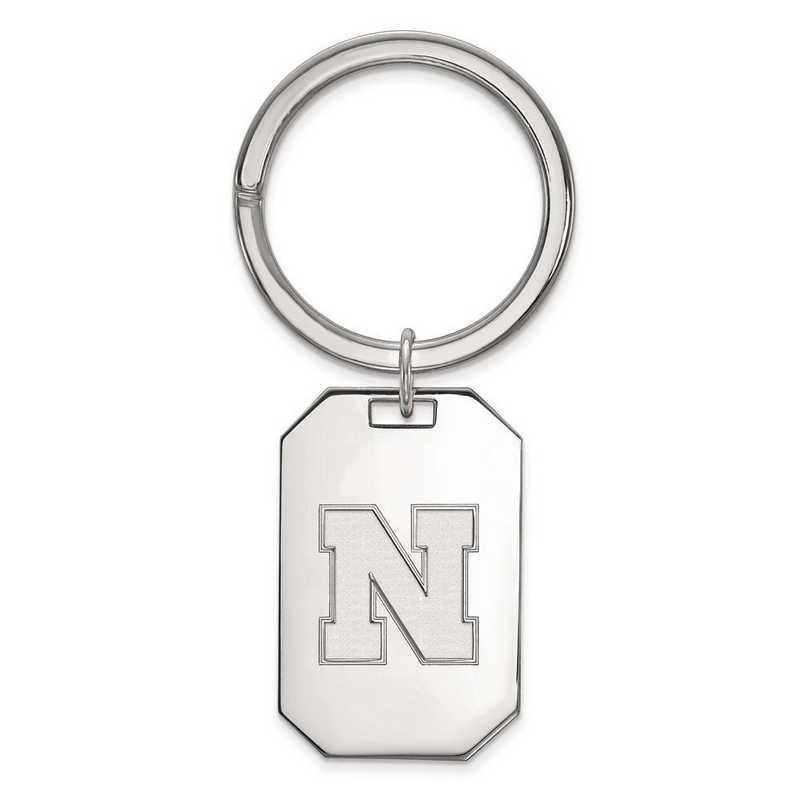 SS053UNE: Sterling Silver LogoArt Univeristy of Nebraska Key Chain