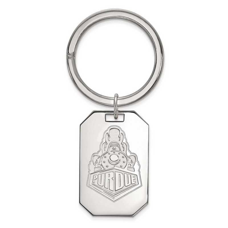 SS055PU: Sterling Silver LogoArt Purdue Key Chain
