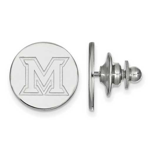 SS009MU: SS LogoArt Miami University Lapel Pin