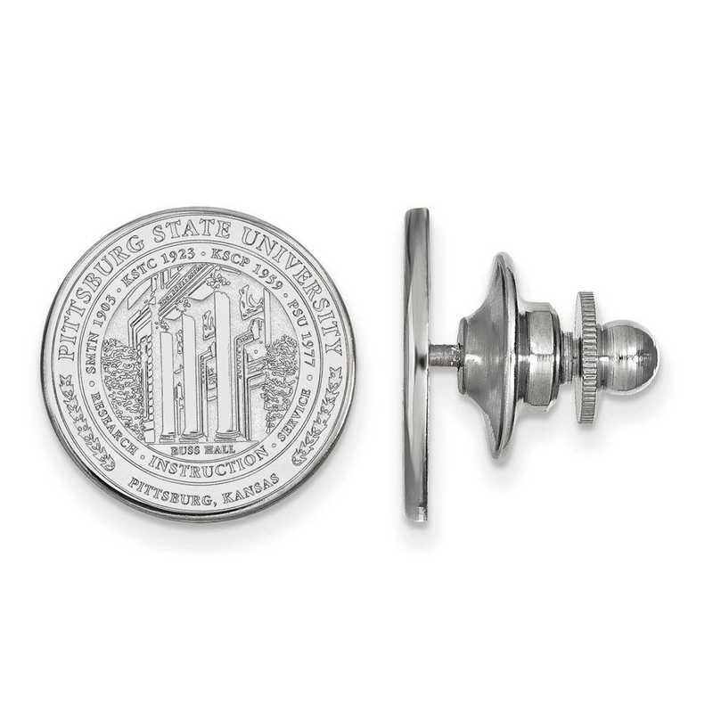 SS017PSK: SS LogoArt Pittsburg State University Crest Lapel Pin