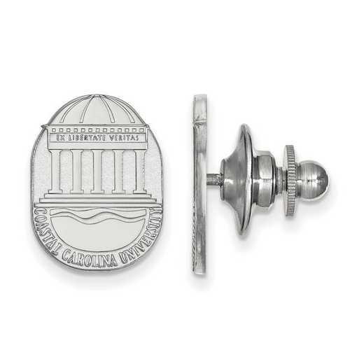 SS021CCU: SS LogoArt Coastal Carolina University Crest Lapel Pin