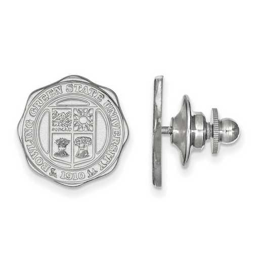 SS025BG: SS LogoArt Bowling Green State University Crest Lapel Pin