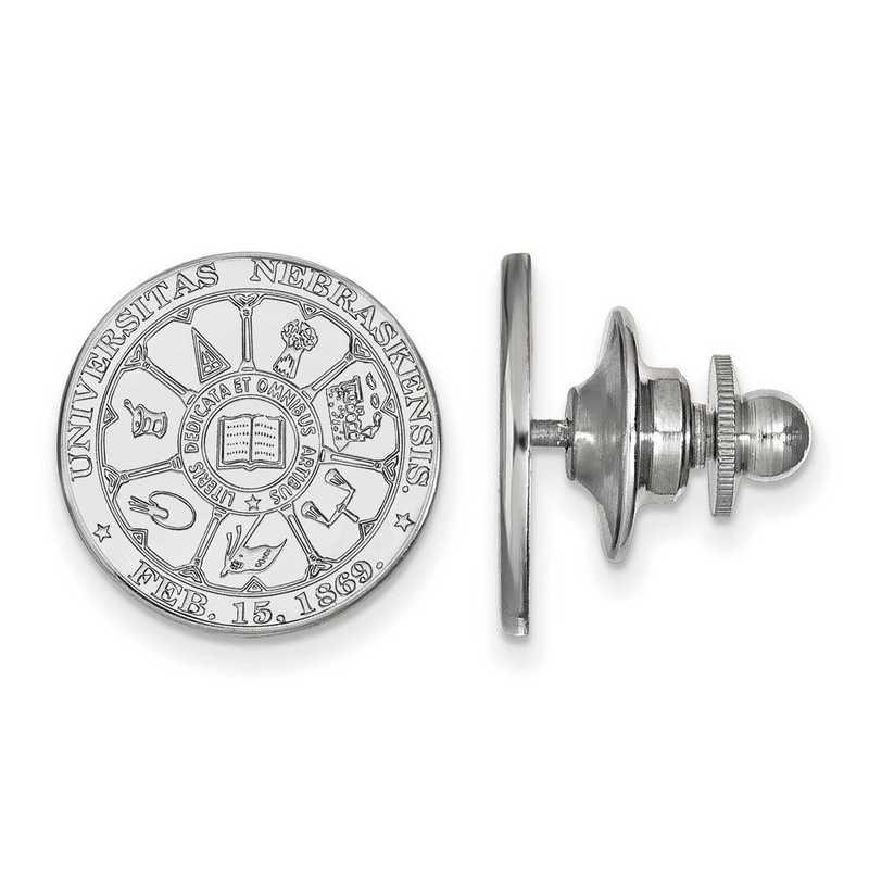 SS045UNE: SS LogoArt University of Nebraska Crest Lapel Pin