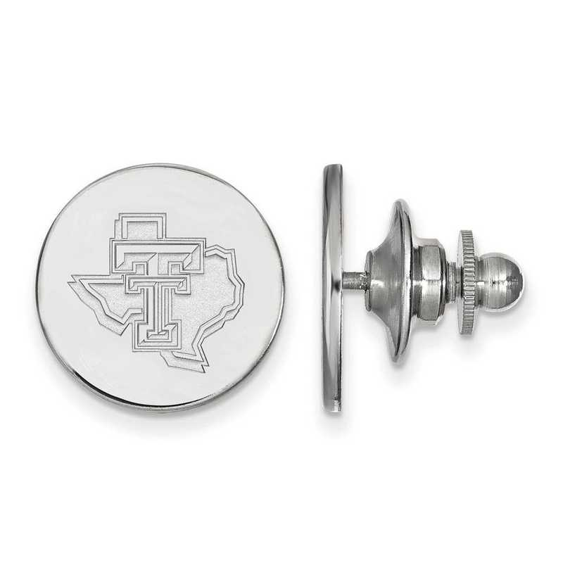 SS051TXT: SS LogoArt Texas Tech University Lapel Pin