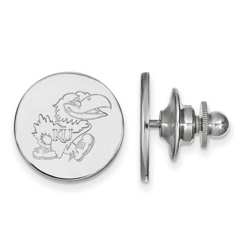 SS059UKS: SS LogoArt University of Kansas Lapel Pin