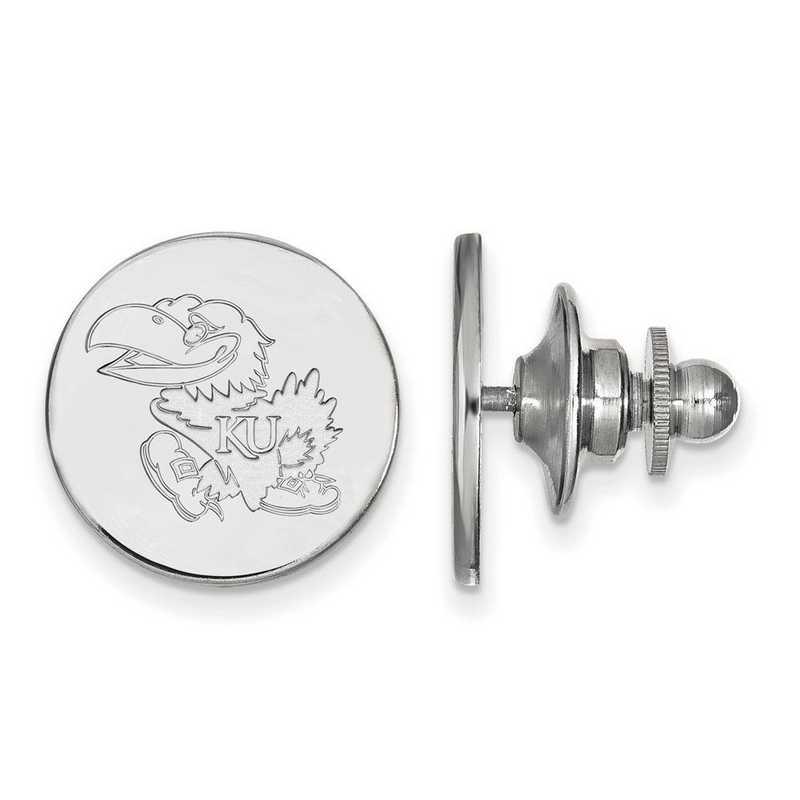 SS062UKS: SS LogoArt University of Kansas Lapel Pin