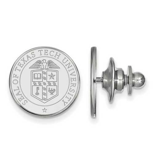 SS072TXT: SS LogoArt Texas Tech University Crest Lapel Pin
