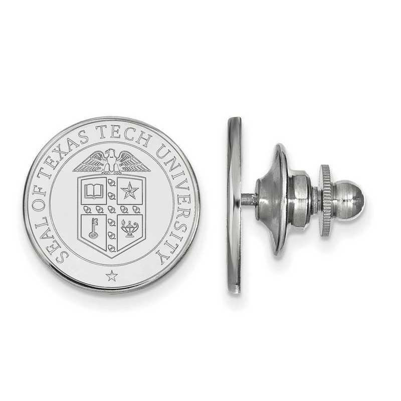 SS072TXT: SS LogoArt Texas Tech University Crest Lapel Pin