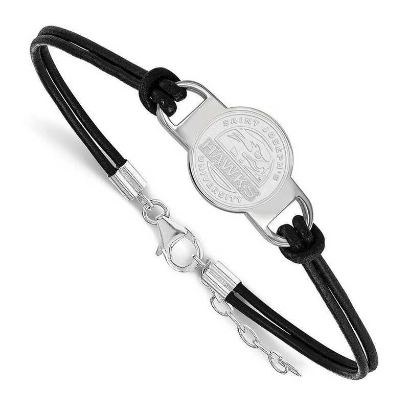 SS007SJO-7: St Joseph's University Leather Bracelet