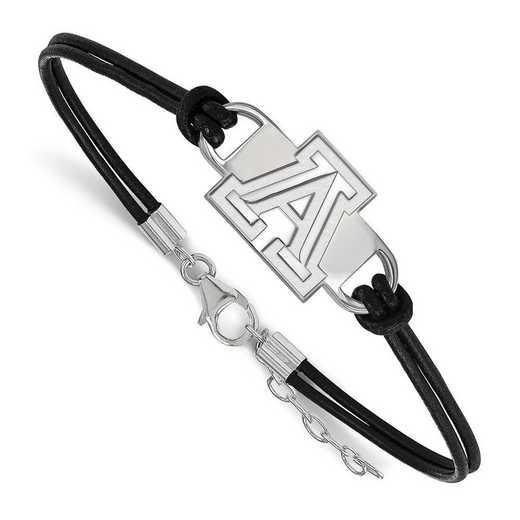 SS016UAZ-7: University of Arizona Leather Bracelet