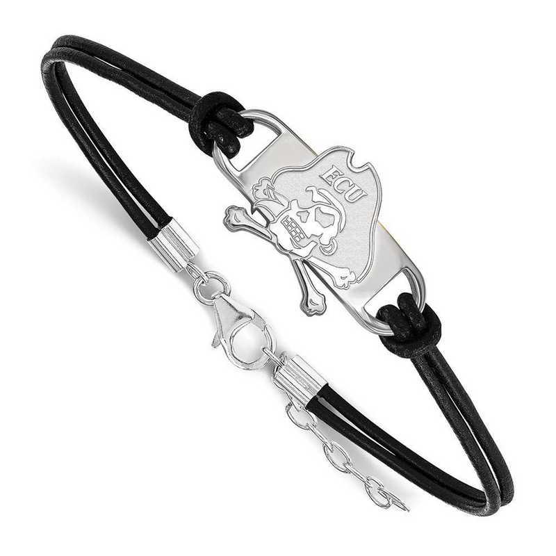 SS019ECU-7: East Carolina University Leather Bracelet