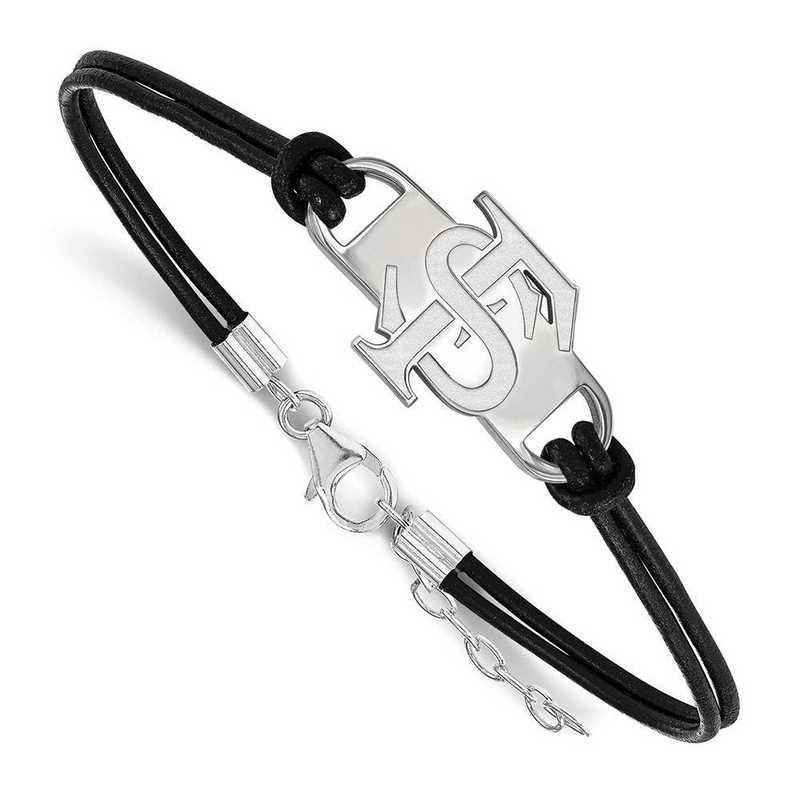 SS023FSU-7: Florida State University Leather Bracelet