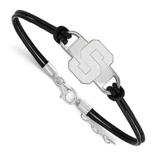 SS023MIS-7: Michigan State University Leather Bracelet