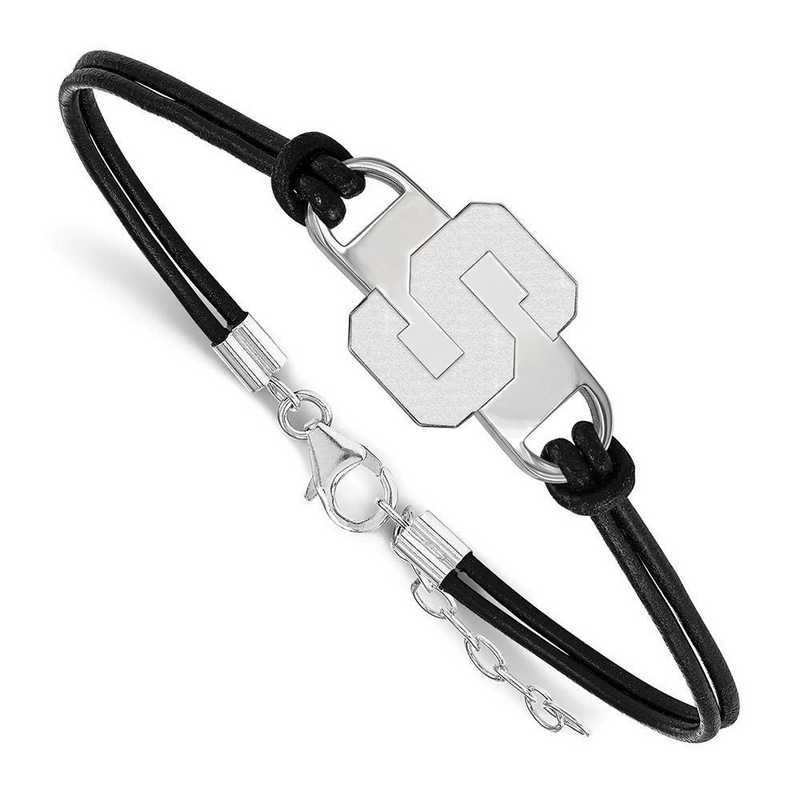 SS023MIS-7: Michigan State University Leather Bracelet
