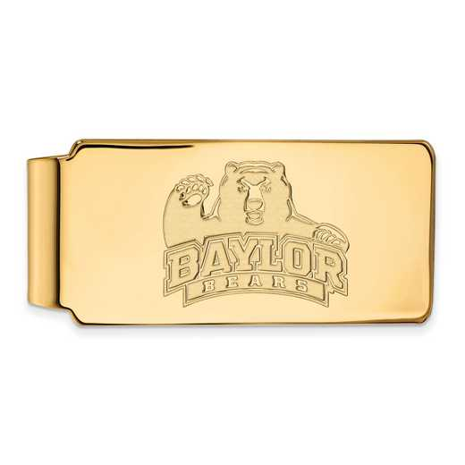 GP017BU: 925 YGFP Baylor Money Clip
