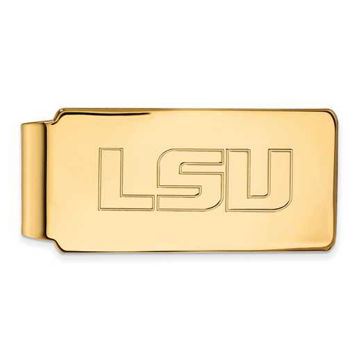 GP019LSU: 925 YGFP Louisiana State Money Clip