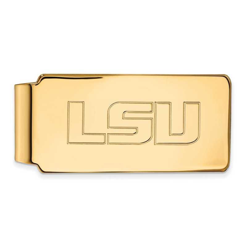 GP019LSU: 925 YGFP Louisiana State Money Clip