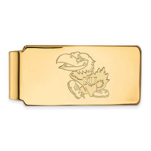 GP021UKS: 925 YGFP Kansas Money Clip