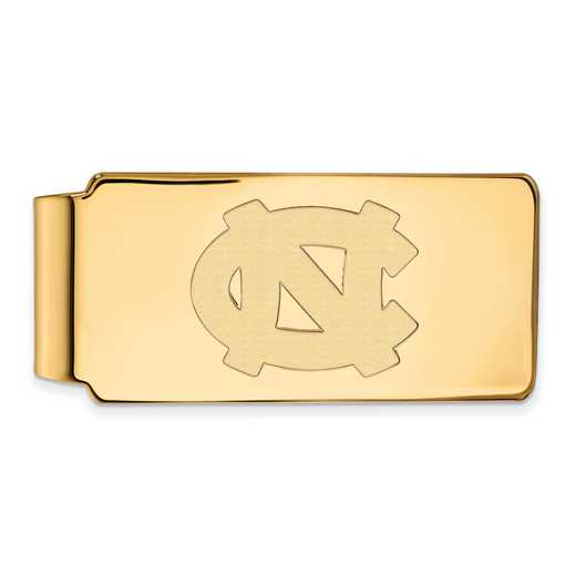 GP022UNC: 925 YGFP North Carolina Money Clip