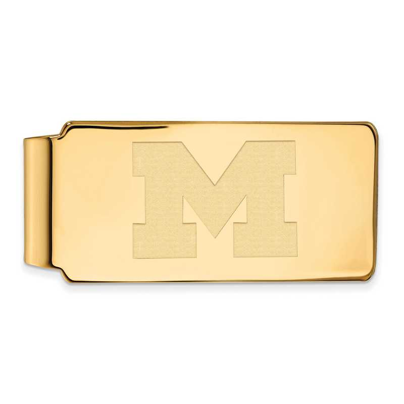 GP024UM: 925 YGFP Michigan Money Clip