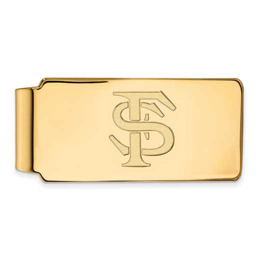 GP025FSU: 925 YGFP Florida State Money Clip