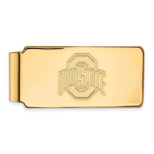 GP025OSU: 925 YGFP Ohio State Money Clip