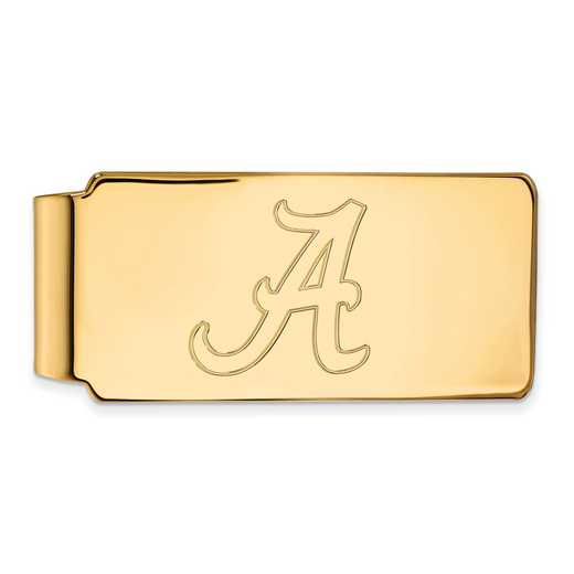 GP025UAL: 925 YGFP Alabama Money Clip