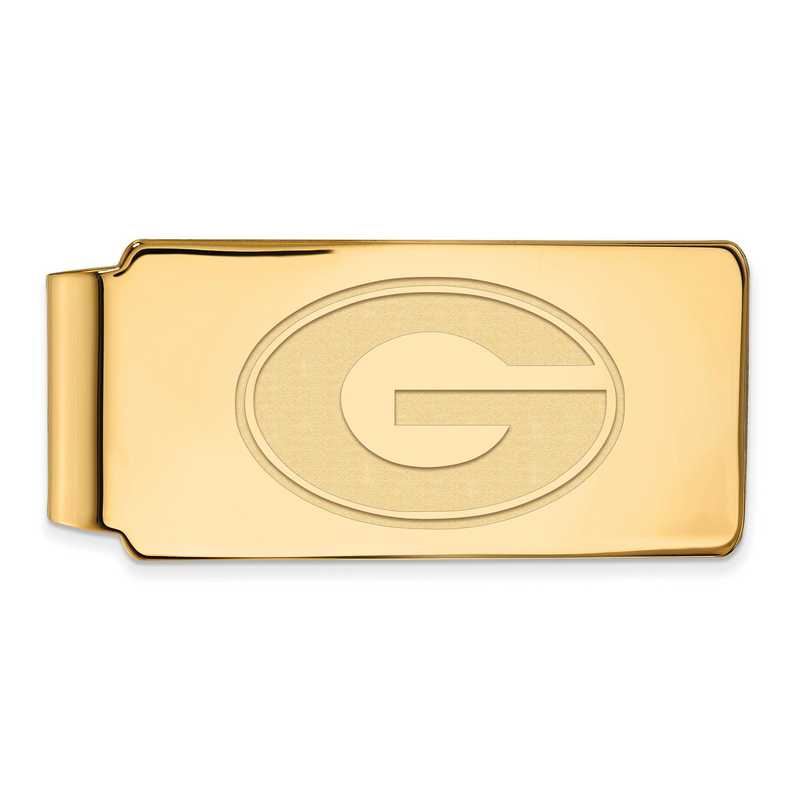 GP025UGA: 925 YGFP Georgia Money Clip