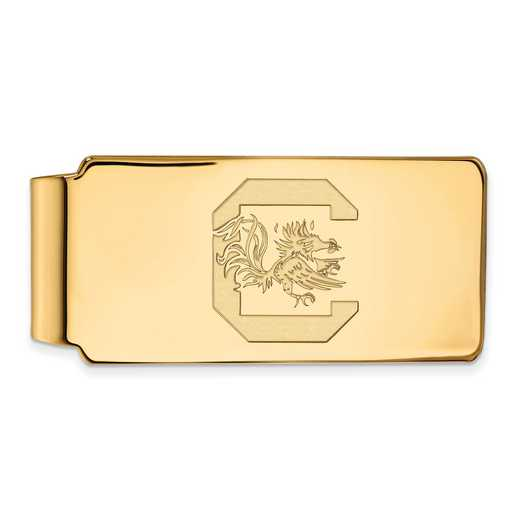 GP025USO: 925 YGFP South Carolina Money Clip