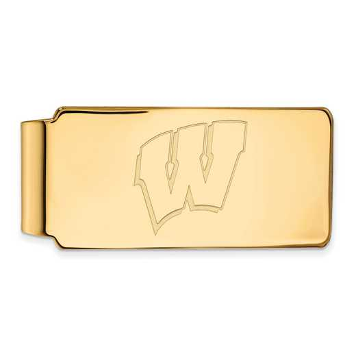 GP025UWI: 925 YGFP Wisconsin Money Clip