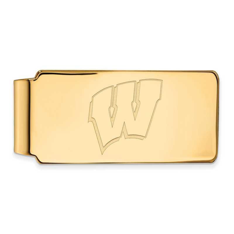 GP025UWI: 925 YGFP Wisconsin Money Clip