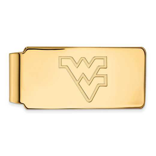 GP025WVU: 925 YGFP West Virginia Money Clip