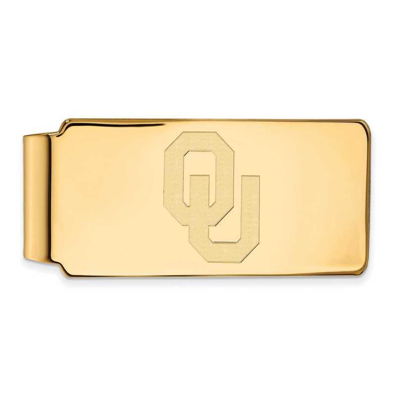 GP026UOK: 925 YGFP Oklahoma Money Clip