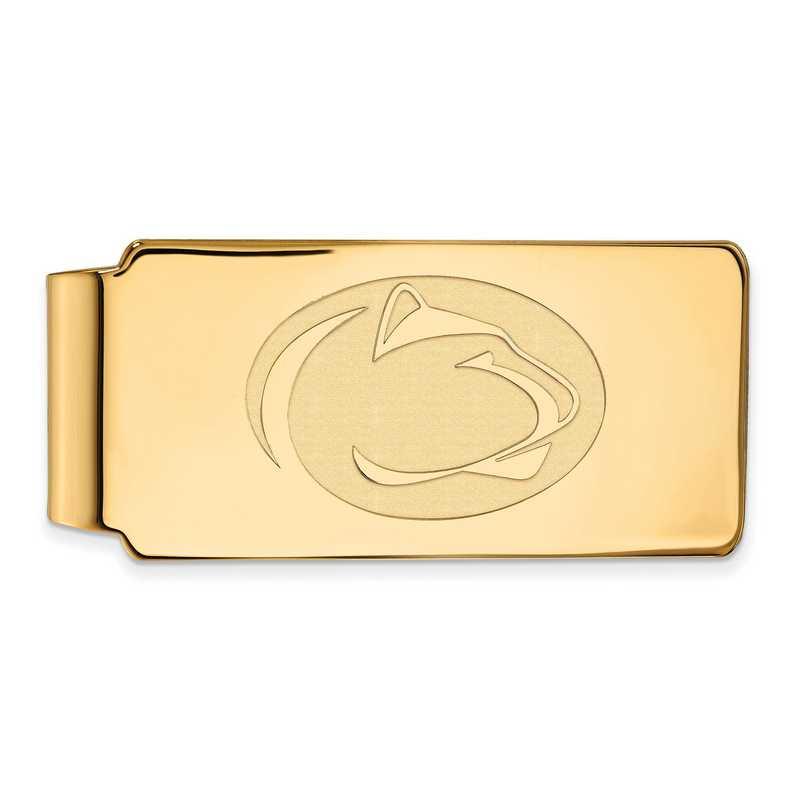 GP027PSU: 925 YGFP Penn State Money Clip
